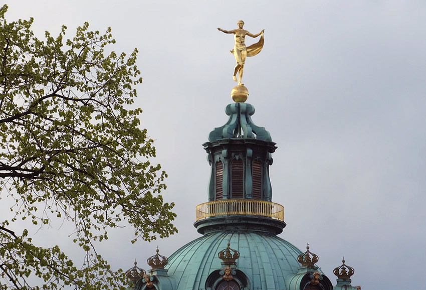 Charlottenburg Schloss, Berlin, and the statue of Fortuna