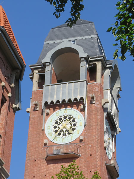 Clocktower of the Paula-Fürst-Schule, Charlottenburg, Berlin