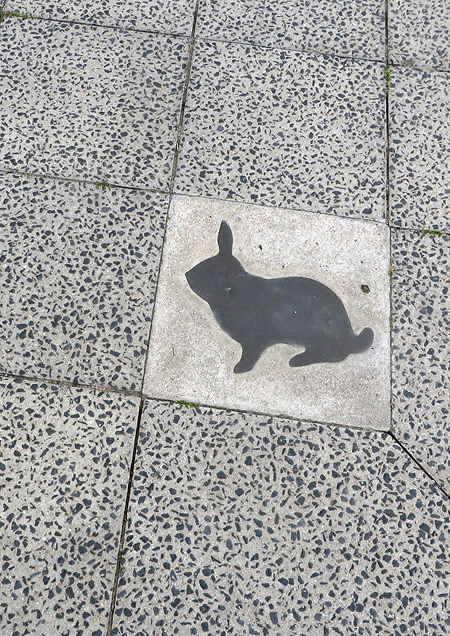 Rabbits in Berlin's Wedding - a reminder that a Berlin Wall checkpoint once stood nearby