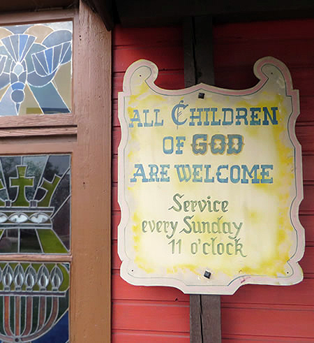 Old Texas Town Berlin even boasts its own church - open for services and, indeed, weddings with a difference