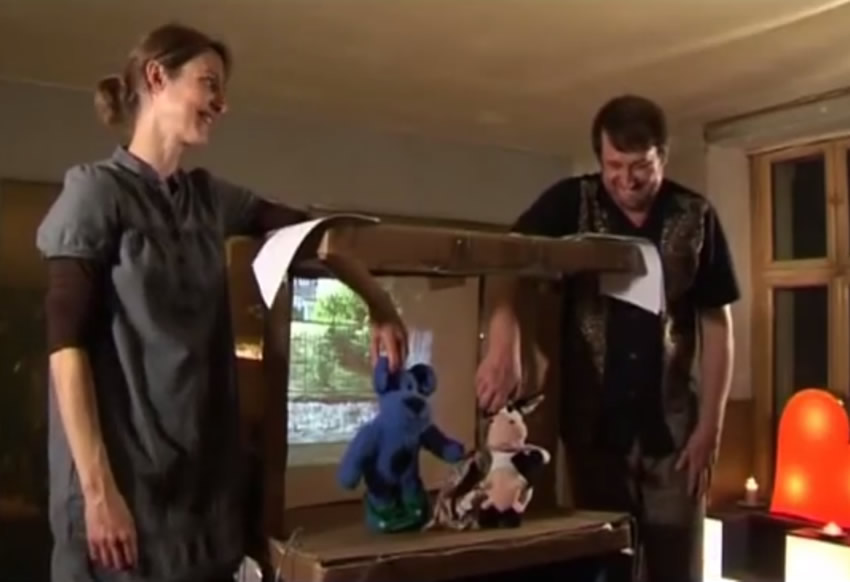 Berlin's alternative sights - a soap opera performed with cuddly toys in a cardboard box!
