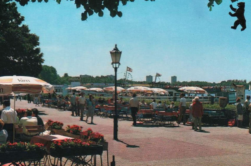 Vintage view of Tegel's Greenwich Promenade, Berlin