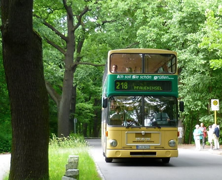 The 218 bus route, Berlin - with a change to catch a heritage bus