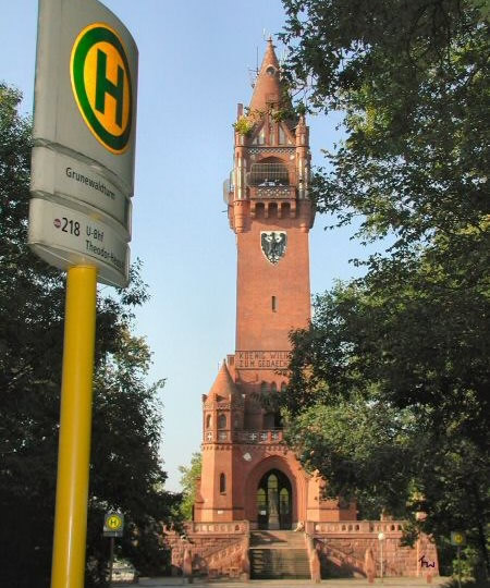 Grunewald tower, Berlin - a monument conveniently placed on the 218 bus route.