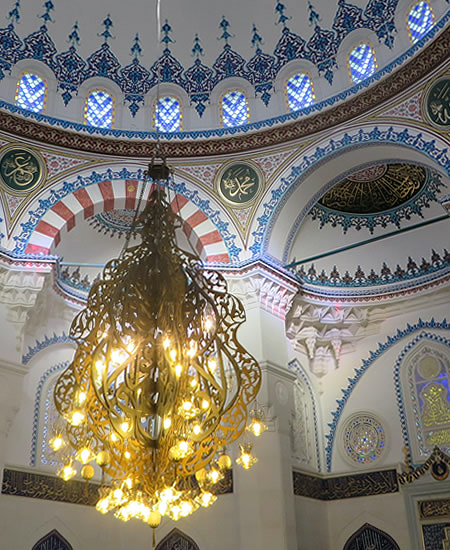 Alternative sightseeing in Berlin: the beautiful interior of the city's largest mosque