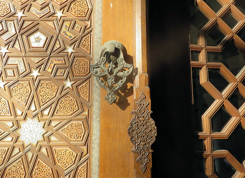 An architectural highlight: traditional Islamic craftsmanship adorning Berlin's beautiful Sehitlik Mosque