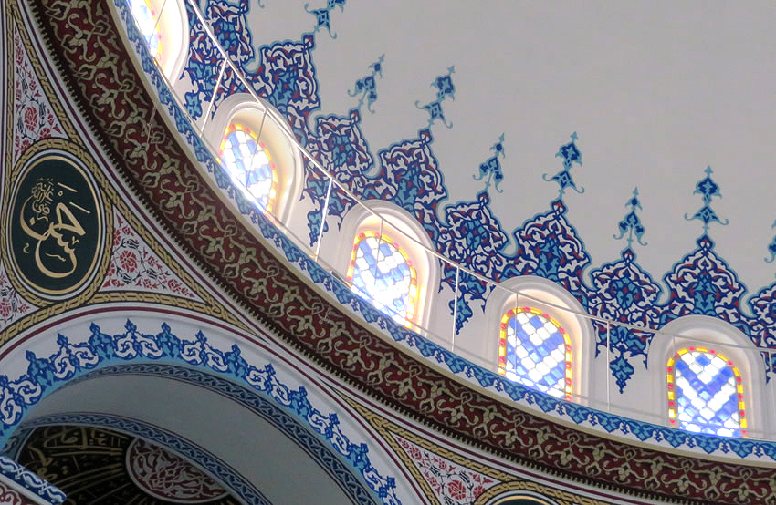 Berlin's hidden secrets: the breathtakingly beautiful interior of the city's largest mosque