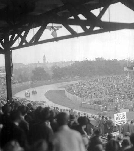 Historic photograph of the AVUS race track, Berlin
