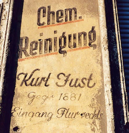 Old hand painted advertisement , Berlin