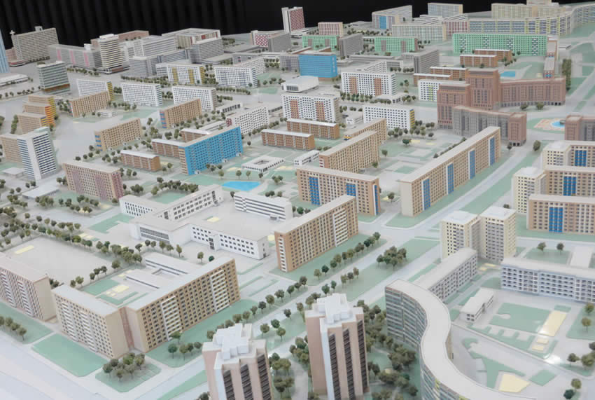 GDR era Berlin - a model of the city planning envisaged by the former East Berlin government