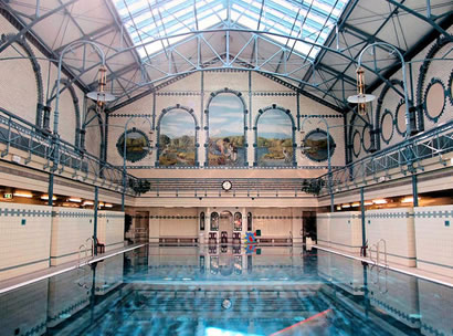 Beautiful Jugendstil design is a feature of Charlottenburg swimming pool, the city's oldest