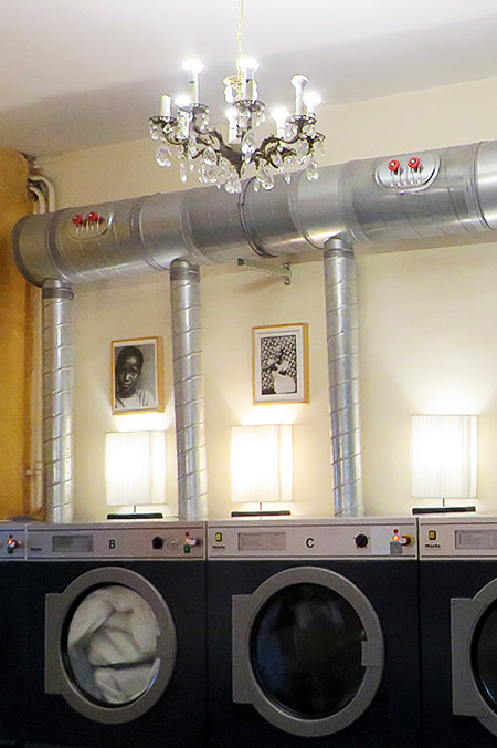 Chandeliers and washing machines - Freddy Leck's laundrette, Berlin