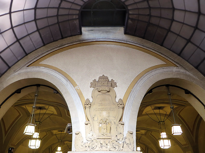 Impressive entrance to Heidelberger Platz Metro on the U3 line, Berlin