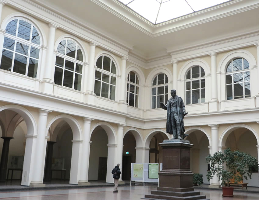 Hidden Berlin interior: the beautiful atrium in this seldom visited Berlin university faculty building