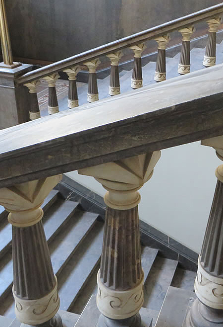 Detail of historic staircase, Berlin university faculty