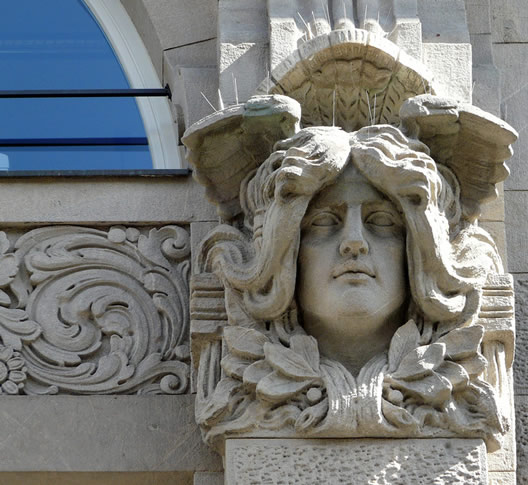 Sculptural detail in Jugendstil style, Berlin