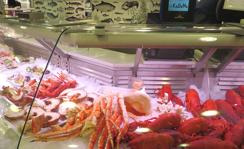 Berlin Kaufhaus des Westens food hall - lobster and seafood