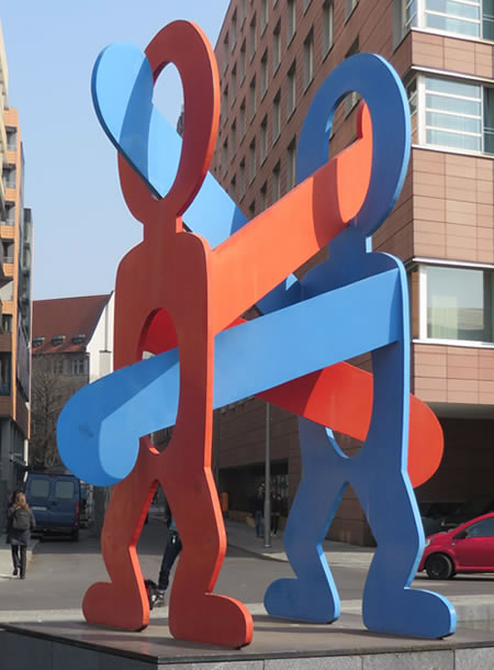 Keith Haring sculpture, Berlin