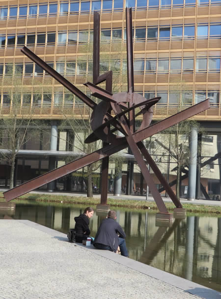 Mark di Suvero sculpture, Daimler Collection, Berlin