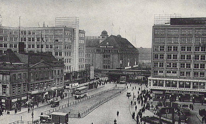 Alexanderplatz, Berlin; early 20th century photograph of the famous city square