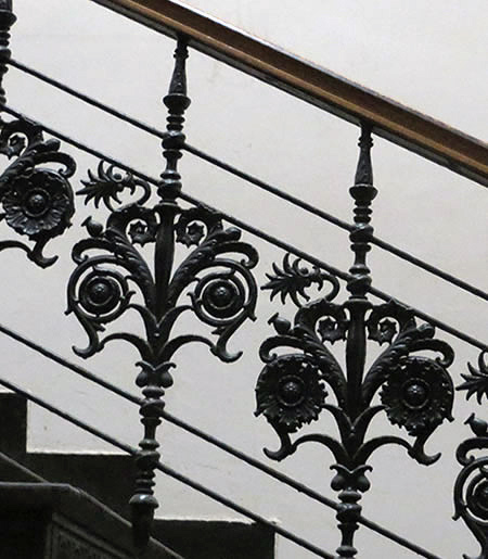 Beautiful cast iron staircase in a hidden interior in Berlin's Dorotheenstrasse