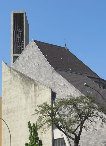 One of Berlin's most eye-catching modern churches: St Norbert's Schoeneberg.
