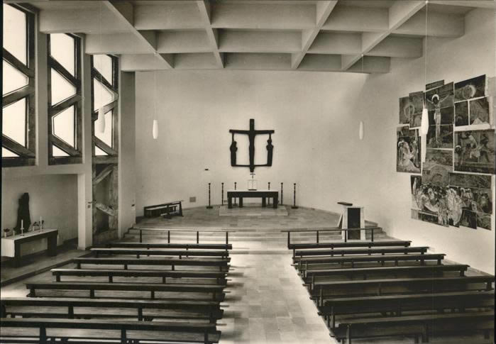 Period photograph of the interior of St Ansgar, Berlin