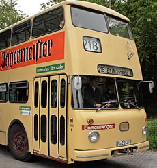 Vintage bus to Pfaueninsel, Berlin
