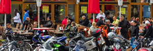 Relive Easy Rider at the Spinner-Bruecke restaurant in Grunewald, Berlin